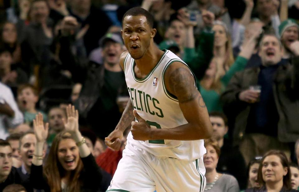Swingman Chris Johnson went from playing in the Development League to being a consistent member of the Celtics' playing rotation.